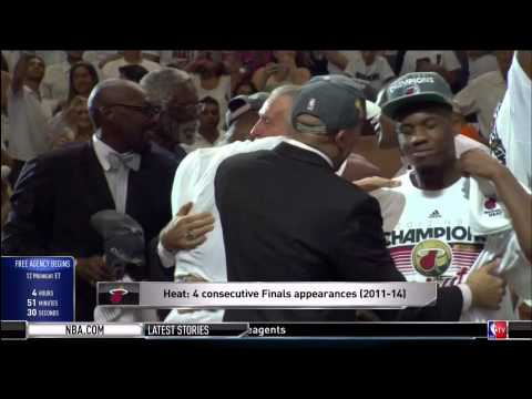 June 30, 2014 - NBATV - Miami Heat Are Ready for Free Agency with Record Cap Space