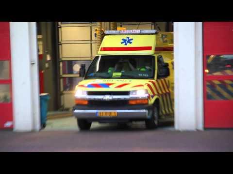 A1 Ambulance 13-122 met spoed naar Panamakade in Amsterdam