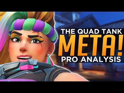 Overwatch: The QUAD TANK Meta! - CRAZY Pro Team Comp