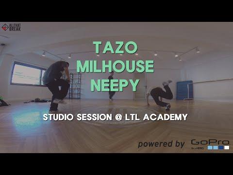 TAZO, MILHOUSE, NEEPY - LTL Studio Session / GoPro Bboy Shoot / Allthatbreak.com