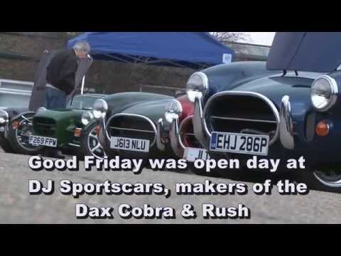 Kit cars on show. DJ Sportscars open day, Dax Cobra and Rush kit builds