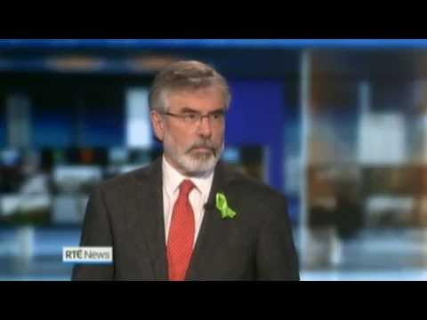 Gerry Adams interview RTE News - 19/05/14
