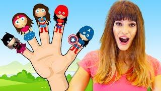 Finger Family Superheros   Kids Songs and Nursery Rhymes by Chu Chu Ua