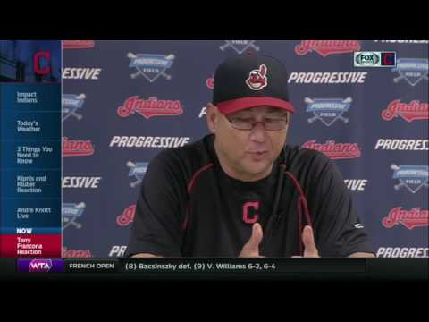 Terry Francona reacts to the suspension of Marlon Byrd