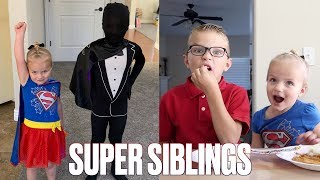 SUPERHERO BROTHER AND SISTER | ADORABLE SIBLING PLAYTIME | BROTHER AND SISTER BEST FRIENDS