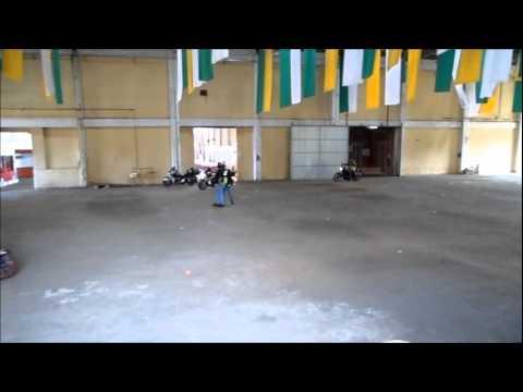 Manobras (parte 01) - 1º Curso de Pilotagem Tennessee Harley-Davidson - 26/11/2011