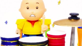 🥁 Caillou the Drummer 🥁 | Funny Animated Kids show | Caillou Stop Motion
