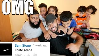 READING RACIST COMMENTS WITH MY FAMILY!!