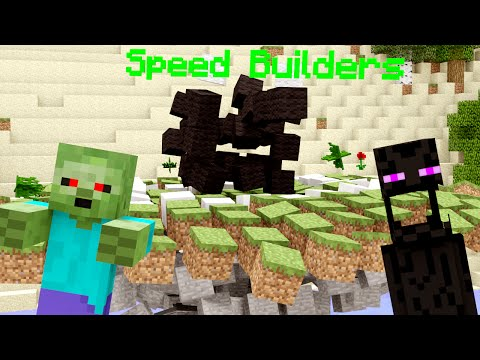 Monster School: Speed Builders - Minecraft Animation | Herobrine is the Judge