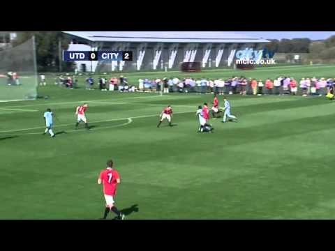Manchester United U18s 1-3 Manchester City U18s: Official highlights from the Academy derby