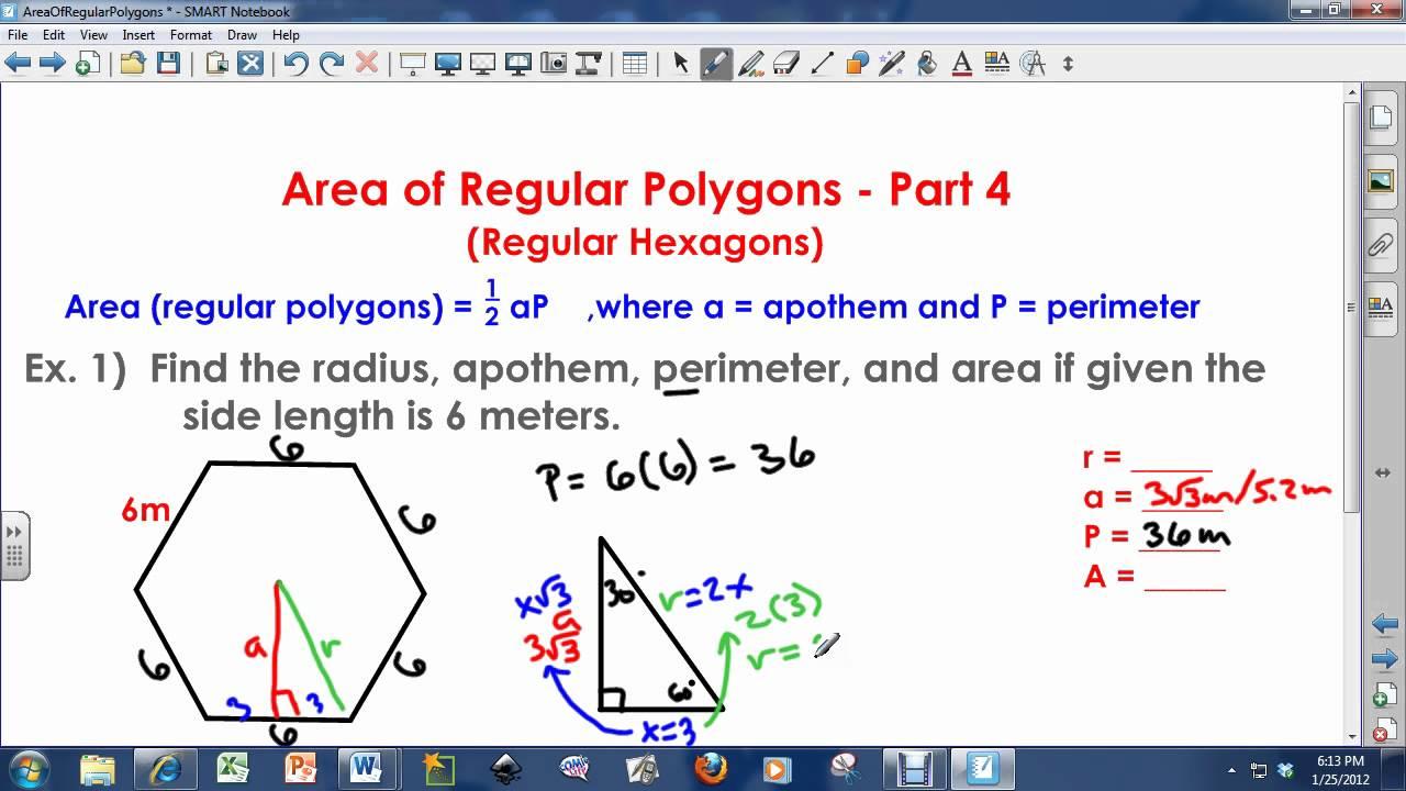 Area Of Regular Polygo