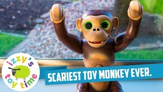 CRAZY SCARY MONKEY TOY! Family Fun with the Zoomer Chimp! Videos for Kids and Children!