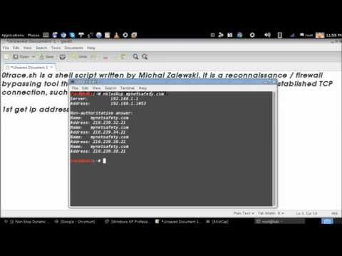 route analysis with 0trace.sh in Kali Linux