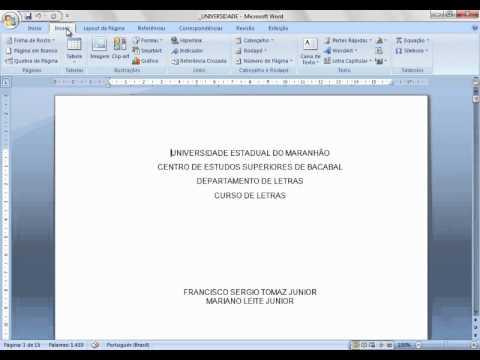 Como fazer a paginação (colocar número nas páginas) de documentos no Microsoft Word