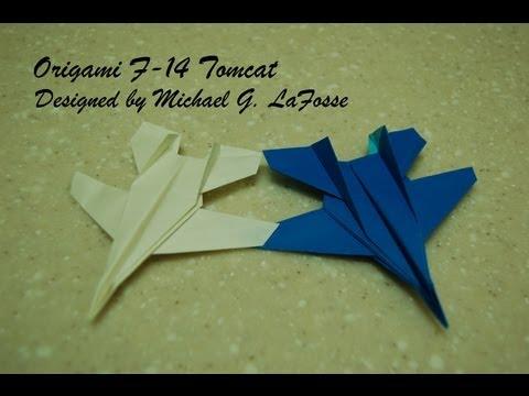 Origami F-14 Tomcat Fighter Jet Video / 종이접기 비행기 전투기 접는 방법 동영상