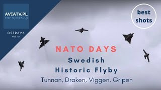 NATO Days 2015 - Tunnan, Draken, Viggen, Gripen - Swedish Historic Flyby - Dny NATO