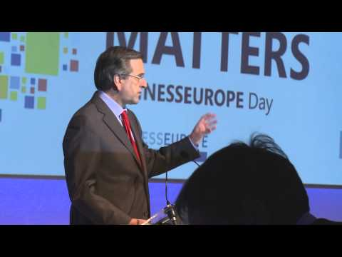 Keynote speech by Mr Antonis Samaras, Prime Minister of Greece