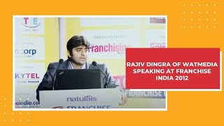 Rajiv Dingra of WATMedia speaking at