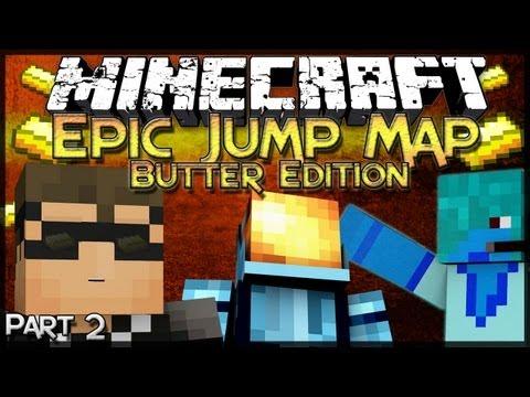 Minecraft: Epic Jump Map: Butter Edition – Part 2 – SQUID INFESTATION!