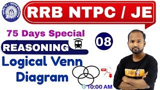 Class -08 || RRB NTPC 75 Days Special /JE || REASONING || by Pulkit Sir || Logical Venn Diagram