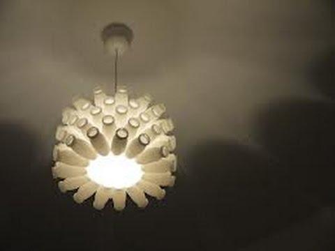 diy actimel lampe recycling youtube. Black Bedroom Furniture Sets. Home Design Ideas