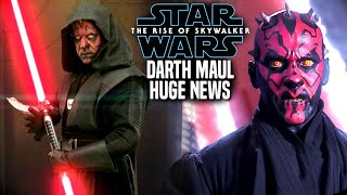 The Rise Of Skywalker Darth Maul HUGE News Revealed! (Star Wars Episode 9)