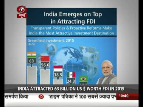 India has replaced China as top destination for FDI
