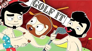 BARELY LEGAL GOLF BOYS!   Nanners, Chilled, Max, and Tejbz (GOLF IT - Multiplayer)