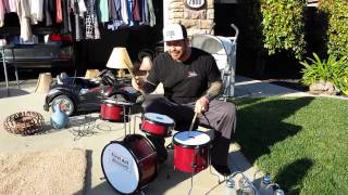 Drum set at Garage Sale