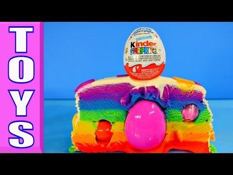 Surprise Barbie Littlest Pet Shop Minnie Mouse Mermaid Ariel Play Doh Kinder Eggs Rainbow Cake