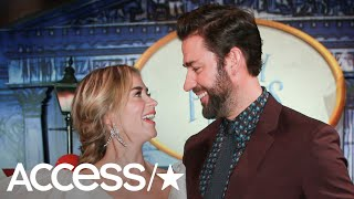 Emily Blunt & John Krasinski Look Majorly Loved Up At The 'Mary Poppins Returns' Premiere