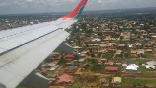Landing in Luano, Lubumbashi Feb 2017