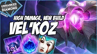 VELKOZ, NEW BUILD / HIGH DAMAGE! - Unranked to Diamond - Ep. 45 | League of Legends