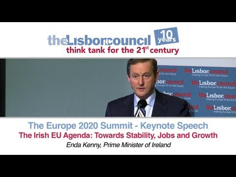 Enda Kenny - The Irish EU Agenda: Towards Stability, Growth and Jobs