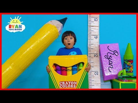 Ryan Pretend Play Magical Giant School Supplies Back To School!!!!