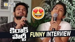 Kirrak Party Team Funny Interview || Nikhil, Samyuktha, Simran, Sharan