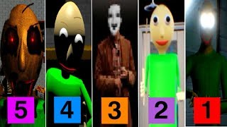 5 NEW Baldi's Basics in Education and Learning Fan Games