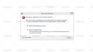 شرح حل مشكله Windows has detected a hard disk problem
