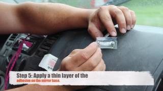 ATG rear mirror FIX – adhesive set for attaching car interior mirror to the windshield
