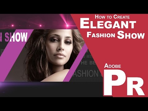 How to create an Elegant, Fashion Slideshow in Premiere Pro CC 2014, With Animated Mattes, PUZZLES!