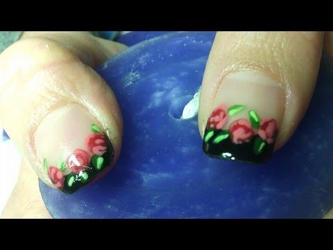 Decoración de uñas con esmalte semipermanente - YouTube