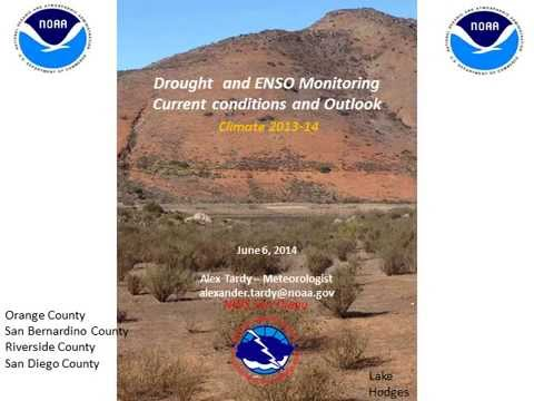 California Drought and Climate with Outlook for El Nino - NWS San Diego