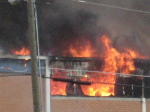Fire at the Pactive Corporation in Macon, GA on May 1, 2013.