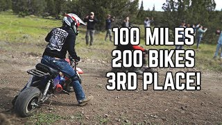100 Mile Mini Bike Race! 200+ Mini Bikes | WE GOT 3RD!!