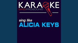 Teenage Love Affair Karaoke With Background Vocal In The Style Of Alicia Keys