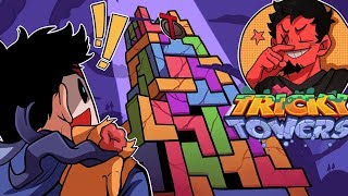 THE NEW AVENGERS TOWER! | Tricky Towers (w/ H2O Delirious & DeadSquirrel)