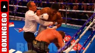 ANTHONY JOSHUA KO'S ALEXANDER  POVETKIN IN ACTION FIGHT - FULL FIGHT CHAT BY BOXINGEGO (EGO)
