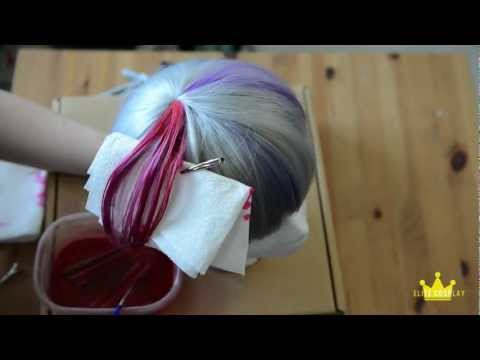 Dyeing a Section of your Wig- Sharpie Method