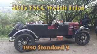 VSCC Welsh Trial 2015 in 1930 Standard 9 Vintage Car