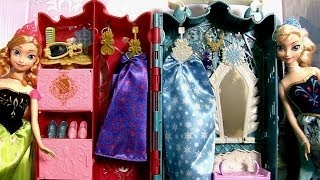 Princesa Anna e Elsa Guarda-Roupa Real das Princesas Disney Frozen - Royal Closet Princess Anna Elsa